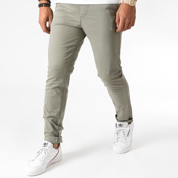 Jack And Jones - Pantalon Chino Slim Marco Dave Vert Kaki