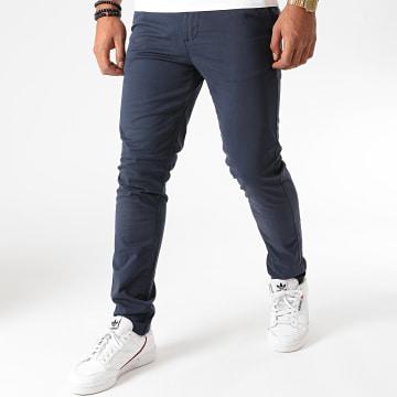 Jack And Jones - Pantalon Chino Slim Marco Dave Bleu Marine
