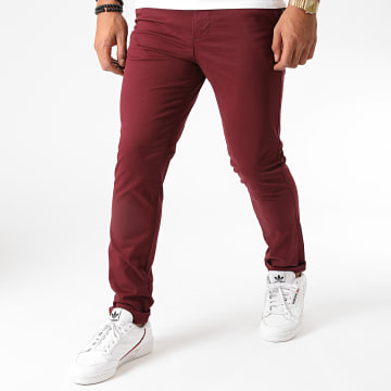Jack And Jones - Pantalon Chino Slim Marco Dave Bordeaux