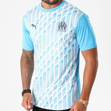 Puma - Tee Shirt De Sport OM Home Stadium 758119 Bleu Clair