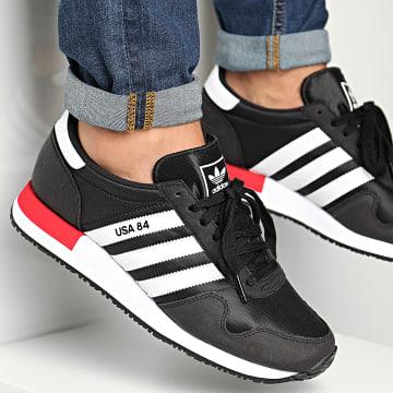 Adidas Originals - Baskets USA 84 FV2050 Core Black Footwear White Scarlet