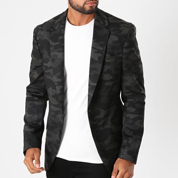 Indicode Jeans - Veste Blazer Oscar Gris Camouflage