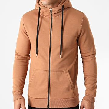 LBO - Sweat Zippé Capuche 1407 Camel