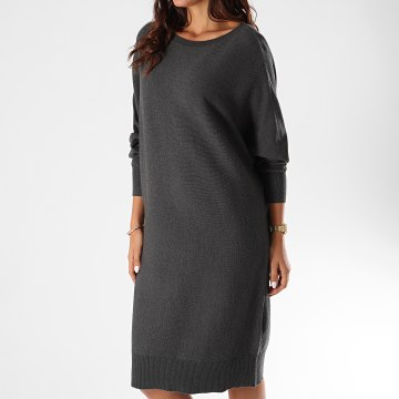 Noisy May - Robe Pull Femme Ship Gris Anthracite