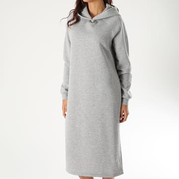 Noisy May - Robe Sweat Capuche Femme Helene Gris Chiné