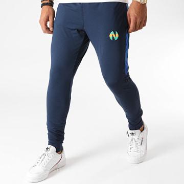 Okawa Sport - Pantalon Jogging A Bandes Newteam 1 Bleu Marine