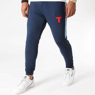 Okawa Sport - Pantalon Jogging A Bandes Toho Bleu Marine