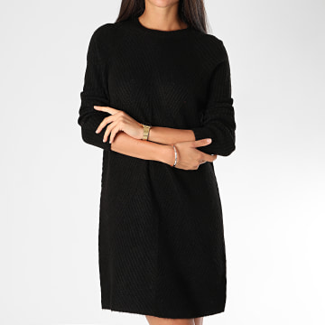 Only - Robe Pull Femme Manches Longues Carol Noir