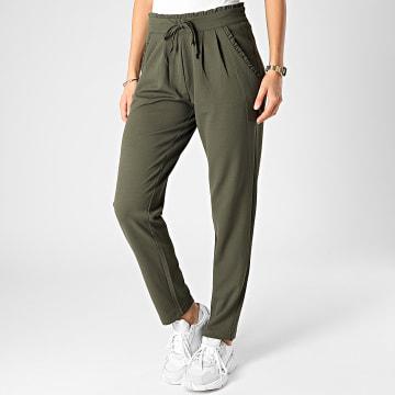 Only - Pantalon Femme Catia Vert Kaki