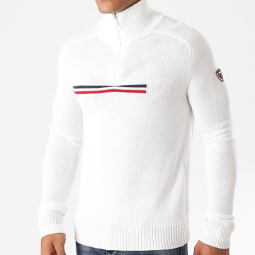 Rossignol - Sweat Col Zippé Major Blanc