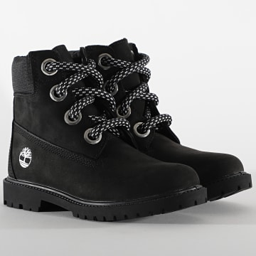 Timberland - Boots Femme 6 Inch Heritage A2Q8F Black Nubuck