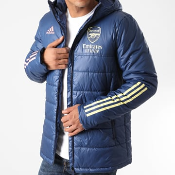 Adidas Performance - Doudoune Capuche A Bandes Arsenal FC Winter FQ6181 Bleu Marine