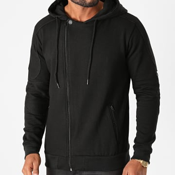 American People - Sweat Zippé Capuche Santi Noir