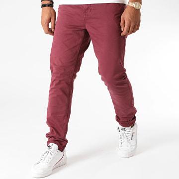 American People - Pantalon Chino Slim Paciano Bordeaux