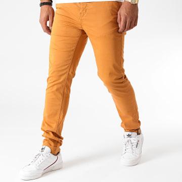 American People - Pantalon Chino Slim Paciano Camel