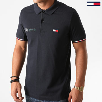 Tommy Hilfiger - Polo Manches Courtes 1 MB Logo 8493 Bleu Marine