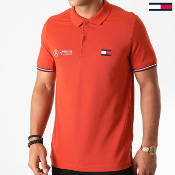 Tommy Hilfiger - Polo Manches Courtes 1 MB Logo 8493 Orange