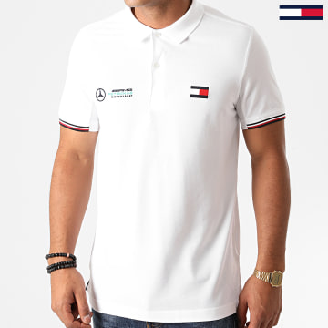 Tommy Hilfiger - Polo Manches Courtes 1 MB Logo 8493 Blanc