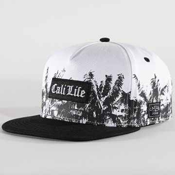 Cayler And Sons - Casquette Snapback Frond Life CS2490 Noir Blanc