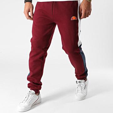 Ellesse - Pantalon Jogging A Bandes Kylian SXG10686 Bordeaux Réfléchissant