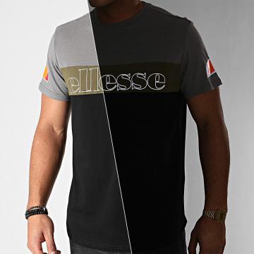Ellesse - Tee Shirt Pogbino SXG10687 Noir Gris Anthracite Vert Kaki Réfléchissant