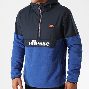 Ellesse - Ellesse -Sweat Col Zippé Capuche Freccia SHG09756 Bleu Marine Bleu Roi