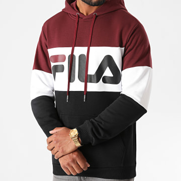 Fila - Sweat Capuche Night Blocked 687001 Noir Blanc Bordeaux