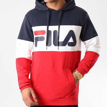 Fila - Sweat Capuche Night Blocked 687001 Rouge Blanc Bleu Marine