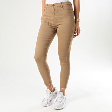 Girls Only - Pantalon Skinny Femme F632-7 Beige