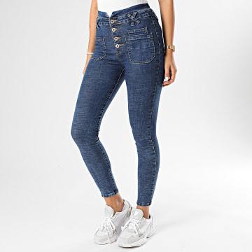 Girls Only - Jean Skinny Femme F636-2 Bleu Denim