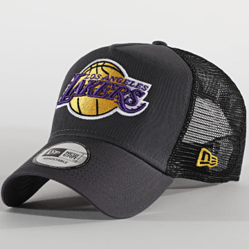 New Era - Casquette Trucker Dark Base Team 12490299 Los Angeles Lakers Gris