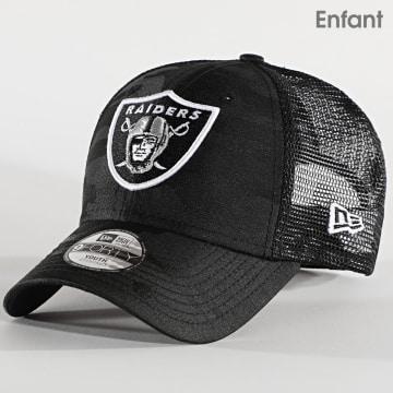 New Era - Casquette Trucker Enfant 9Forty Seasonal The League 12513981 Oakland Raiders Noir