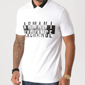 Armani Exchange - Polo Manches Courtes 6HZFFK-ZJL4Z Blanc