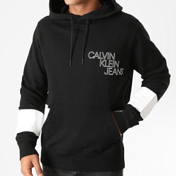 Calvin Klein - Sweat Capuche Blocking Stripe 6513 Noir