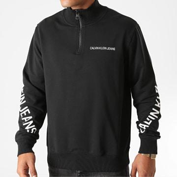 Calvin Klein - Sweat Col Zippé Stretch Logo 6523 Noir