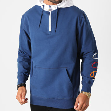 Ellesse - Sweat Col Zippé Capuche Treeato SHG09812 Bleu Marine