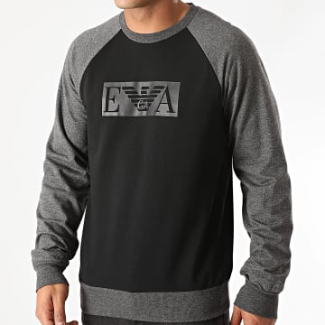 Emporio Armani - Tee Shirt Manches Longues 111062-0A566 Noir Gris Anthracite Chiné