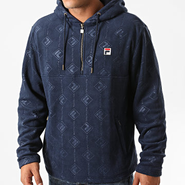 Fila - Sweat Col Zippé Capuche Hastin Fleece 687879 Bleu Marine