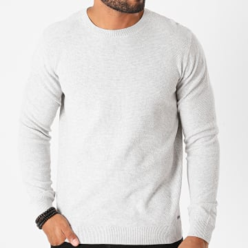 Tom Tailor - Sweat Crewneck 1020319-XX-10 Gris Clair Chiné