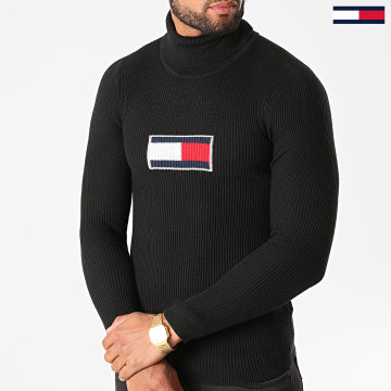 Tommy Jeans - Pull Col Roulé Tommy Flag 8857 Noir