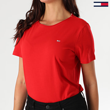 Tommy Jeans - Tee Shirt Slim Femme 9437 Rouge