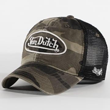 Von Dutch - Casquette Trucker Army Camouflage Vert Kaki