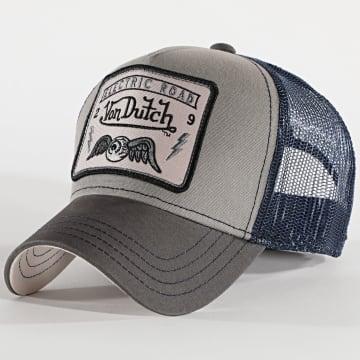 Von Dutch - Casquette Trucker Square 3 Gris Bleu
