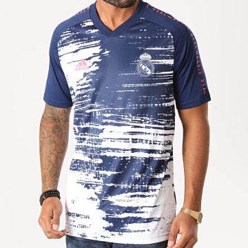 Adidas Performance - Tee Shirt De Sport Real Madrid FC FQ7892 Bleu Marine Blanc