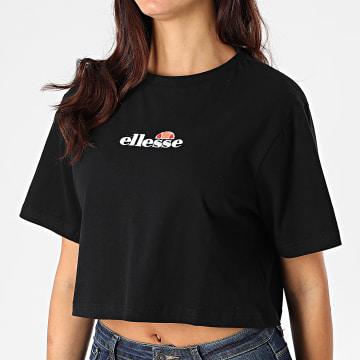 Ellesse - Tee Shirt Crop Femme Fireball SGB06838 Noir