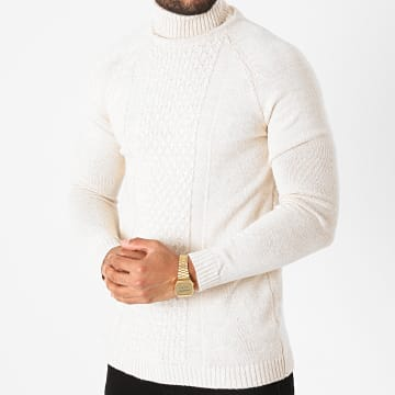 Ikao - Pull Col Roulé LL173 Beige