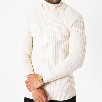 Ikao - Pull Col Roulé LL179 Beige