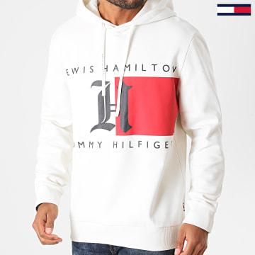 Tommy Hilfiger - Sweat Capuche Lewis Hamilton Fleece Logo 5355 Ecru
