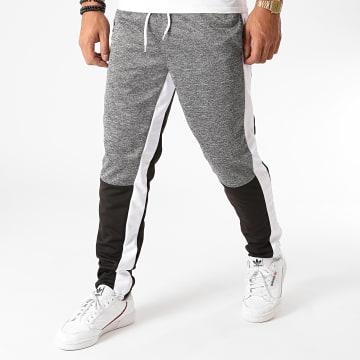 Urban Classics - Pantalon Jogging A Bandes SP1276 Noir Gris Chiné