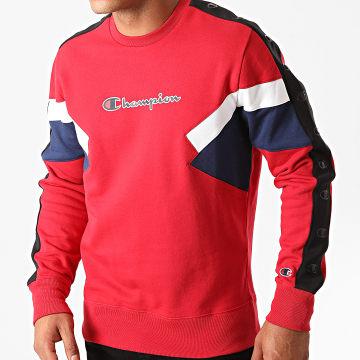 Champion - Sweat Crewneck A Bandes 214786 Rouge